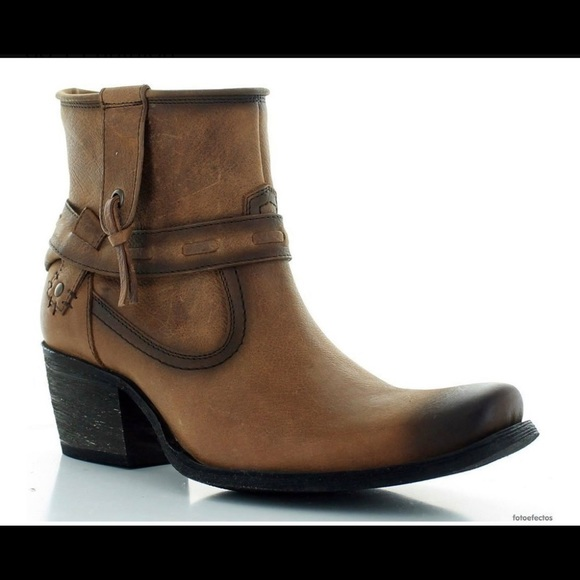 Genuine Leather Cowboy Cowgirl Western Ankle Boots